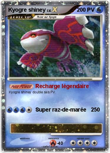Pok mon kyogre shiney 14 14 recharge l gendaire ma carte pok mon - Legendaire shiney ...