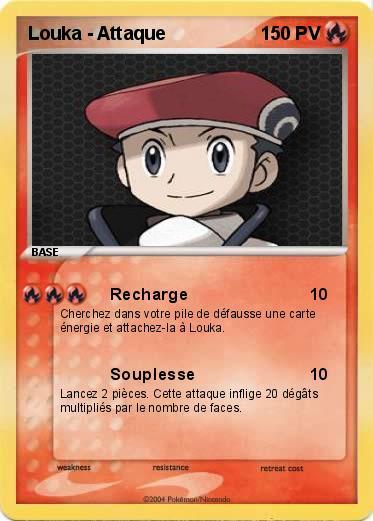 Pok mon louka attaque recharge ma carte pok mon - Louka pokemon ...