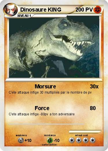 Pok mon dinosaure king 5 5 morsure ma carte pok mon - Carte dinosaure king ...