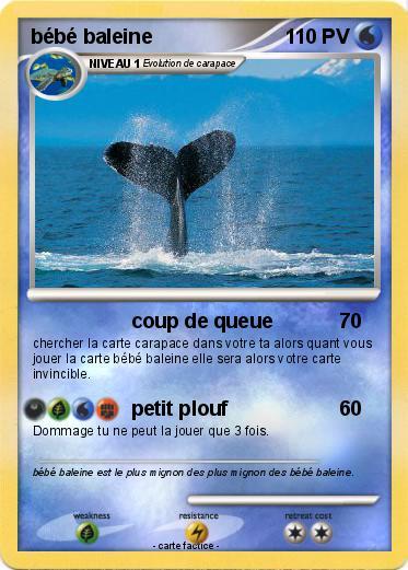 Pok mon bebe baleine 1 1 coup de queue ma carte pok mon - Pokemon baleine ...