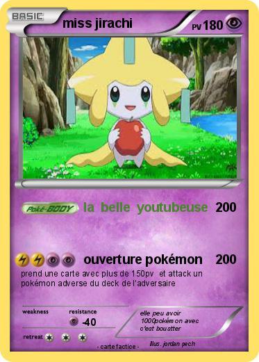 Pok mon miss jirachi 9 9 la belle youtubeuse ma carte - Carte pokemon jirachi ...