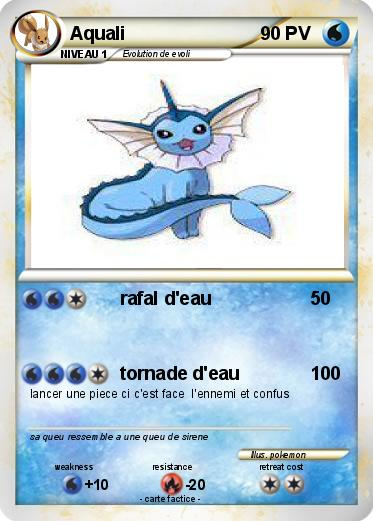 Pok mon aquali 208 208 rafal d 39 eau ma carte pok mon - Carte pokemon aquali ...