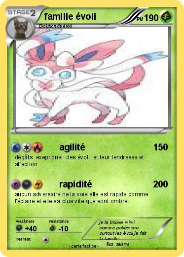 Pok mon famille evoli 52 52 agilit ma carte pok mon - Famille evoli pokemon ...