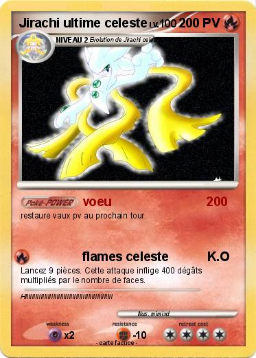 Pok mon jirachi ultime celeste voeu 200 ma carte pok mon - Carte pokemon jirachi ...