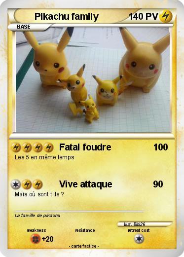 Pok mon pikachu family 44 44 fatal foudre ma carte pok mon - Pokemon famille pikachu ...
