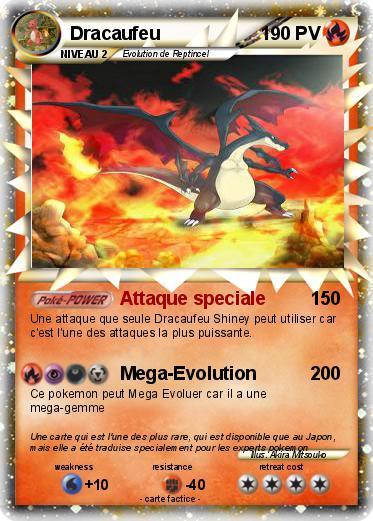Pok mon dracaufeu 1764 1764 attaque speciale ma carte pok mon - Les mega evolution ...