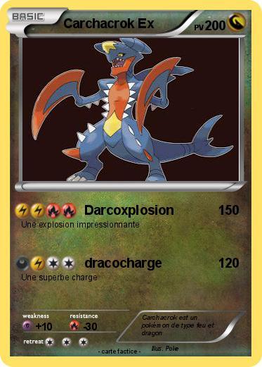 Pok mon carchacrok ex 12 12 darcoxplosion ma carte pok mon - Mega carchacroc ...