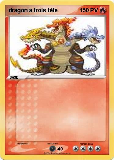 Coloriage Chien A Trois Tete.Pokemon Dragon A Trois Tete