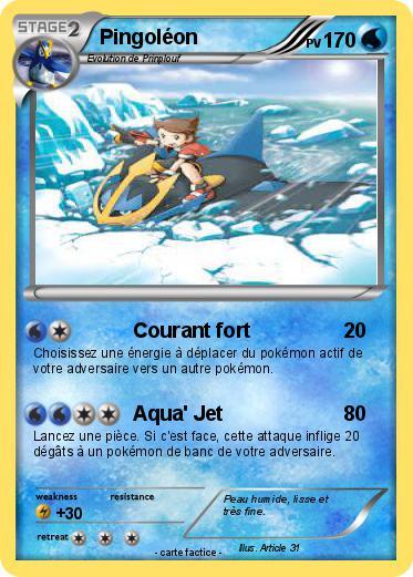 Pok mon pingoleon 553 553 courant fort ma carte pok mon - Pokemon pingoleon ...