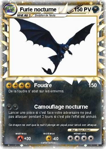 Pok mon furie nocturne 43 43 foudre ma carte pok mon - Furie nocturne dragon ...