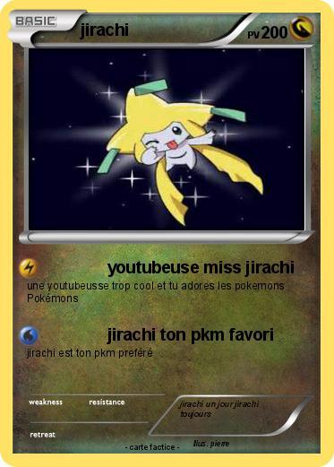 Pok mon jirachi 1125 1125 youtubeuse miss jirachi ma - Carte pokemon jirachi ...