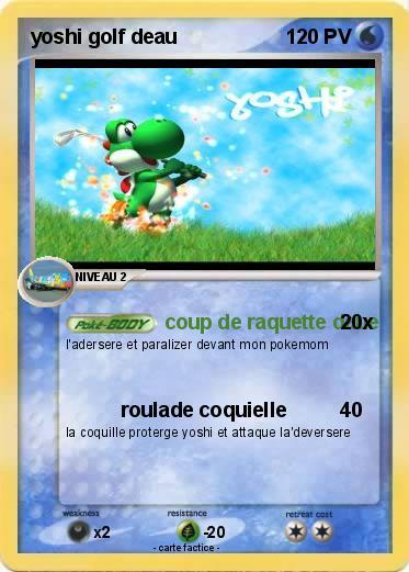Pokémon yoshi golf deau - coup de raquette daue - Ma carte ... Wailord Horde