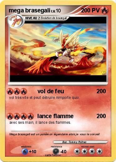 Pok mon mega brasegali 78 78 vol de feu ma carte pok mon - Coloriage pokemon brasegali ...