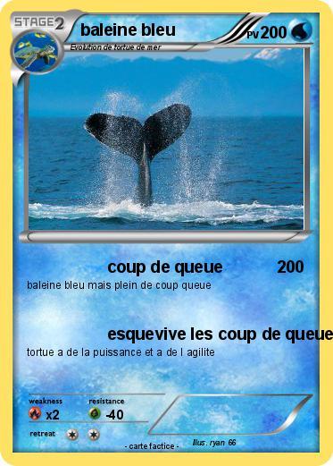 Pok mon baleine bleu 5 5 coup de queue ma carte pok mon - Pokemon baleine ...