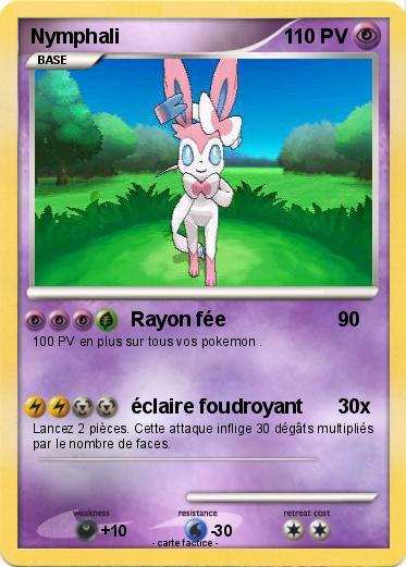 Pok mon nymphali 87 87 rayon f e ma carte pok mon - Carte pokemon fee ...
