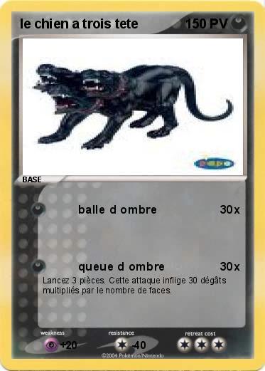 Coloriage Chien A Trois Tete.Pokemon Le Chien A Trois Tete
