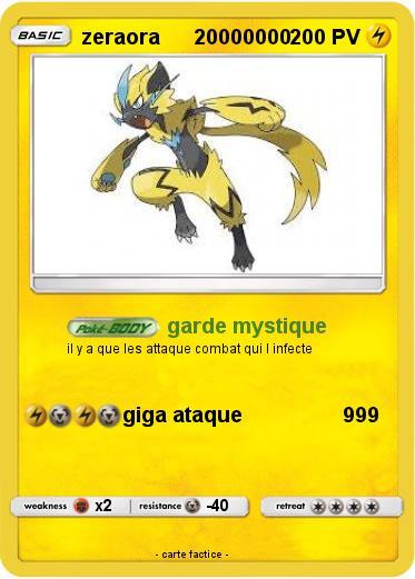 Pokemon Zeraora 20000000