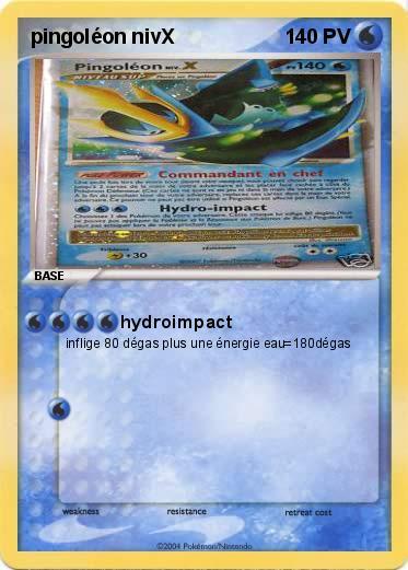 Pok mon pingoleon nivx hydroimpact ma carte pok mon - Pokemon pingoleon ...