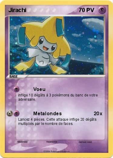 Pok mon jirachi 58 58 voeu ma carte pok mon - Carte pokemon jirachi ...
