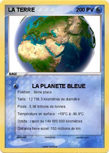 carte d identité de la terre Pokemon LA TERRE 32