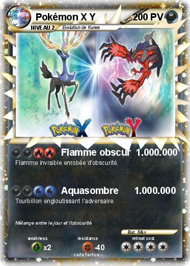 Pok mon pokemon x y 7 7 flamme obscur ma - Pokemon legendaire pokemon y ...