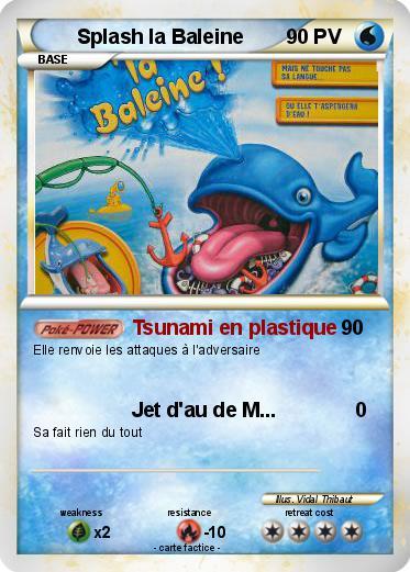 Pok mon splash la baleine tsunami en plastique ma - Pokemon baleine ...