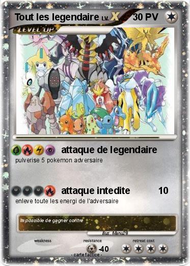 Pok mon tout les legendaire 1 1 attaque de legendaire ma carte pok mon - Tout les carte pokemon ex du monde ...