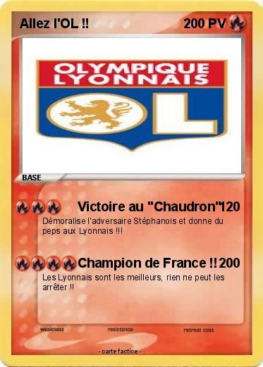 Carte anniversaire olympique lyonnais - Mypokecard com ...