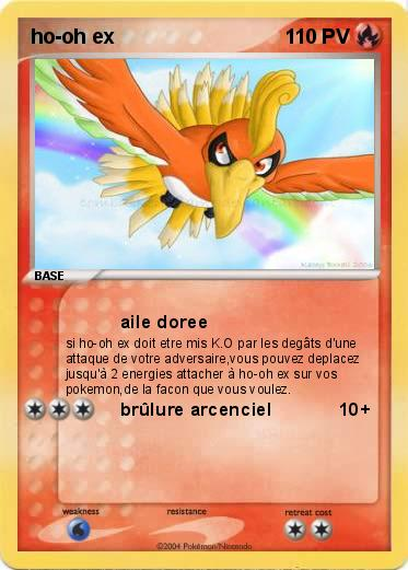 Carte pokemon ho oh ex