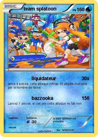 Pokemon Team Splatoon 1