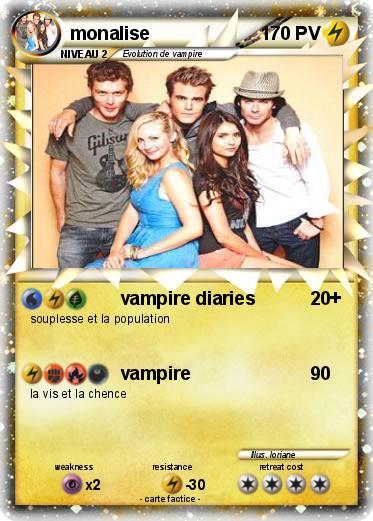 Pok mon monalise vampire diaries ma carte pok mon - Dessin vampire diaries ...