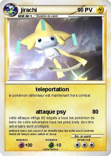 Pok mon jirachi 297 297 teleportation ma carte pok mon - Carte pokemon jirachi ...
