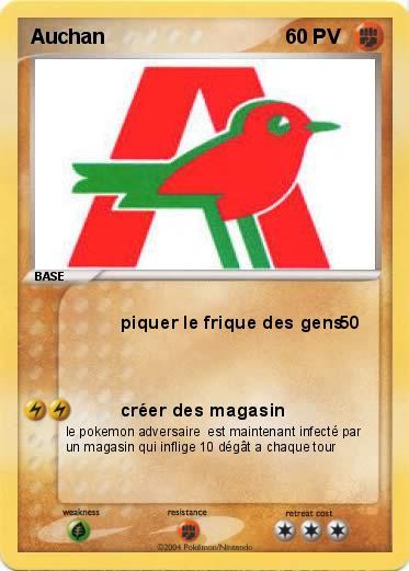 Pok mon auchan piquer le frique des gens ma carte pok mon - Carte de fidelite auchan fr ...