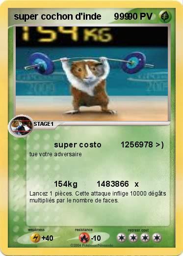 Pok mon super cochon d inde 999 999 super costo 1256978 - Cochon pokemon ...