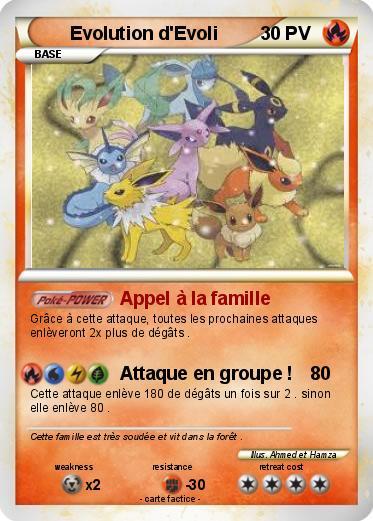 Pok mon evolution d evoli 3 3 appel la famille ma - Famille evoli pokemon ...