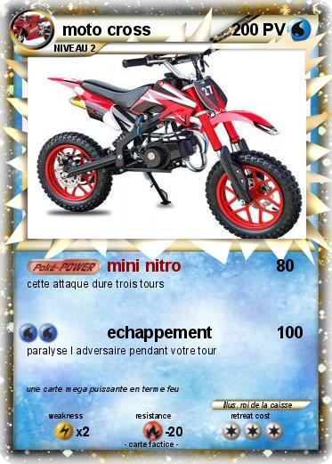 Pok mon moto cross 19 19 mini nitro ma carte pok mon - Comment dessiner une moto cross ...