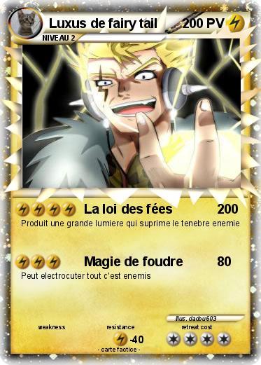 Pok mon luxus de fairy tail la loi des f es ma carte pok mon - Carte pokemon fee ...