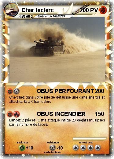 Pok mon char leclerc 3 3 obus perfourant ma carte pok mon - Coloriage de char ...