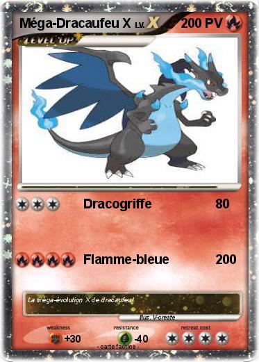 Pok mon mega dracaufeu x 24 24 dracogriffe ma carte - Evolution de dracaufeu ...