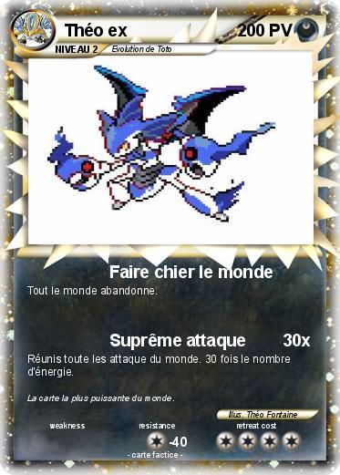 Pok mon theo ex 8bsp faire chier le monde ma carte pok mon - Tout les carte pokemon ex du monde ...