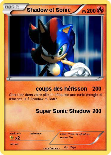 Pok mon shadow et sonic 16 16 coups des h risson ma - Sonic et shadow ...