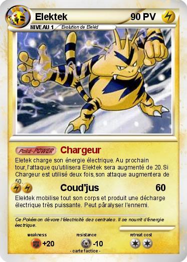 Pok mon elektek 28 28 chargeur ma carte pok mon - Pokemon elektek ...