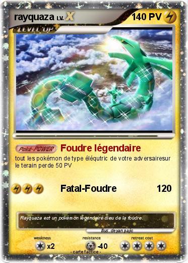 Pok mon rayquaza 4159 4159 foudre l gendaire ma carte - Pokemon legendaire a colorier ...
