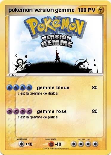 Pokemon Pokemon Version Gemme