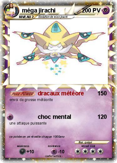 Pok mon mega jirachi 15 15 dracaux m t ore ma carte - Carte pokemon jirachi ...