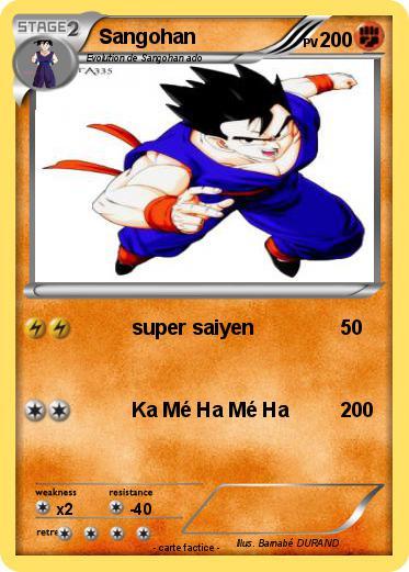Pok mon sangohan 453 453 super saiyen ma carte pok mon - Sangohan ado super sayen 3 ...
