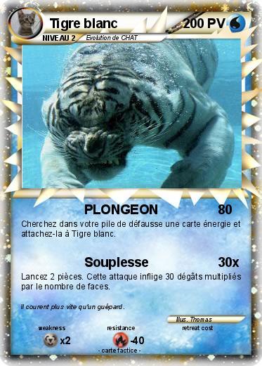 Pok mon tigre blanc 67 67 plongeon ma carte pok mon - Photo de tigre blanc a imprimer ...