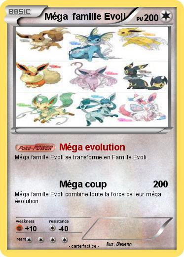Pok mon mega famille evoli 1 1 m ga evolution ma carte pok mon - Famille evoli pokemon ...