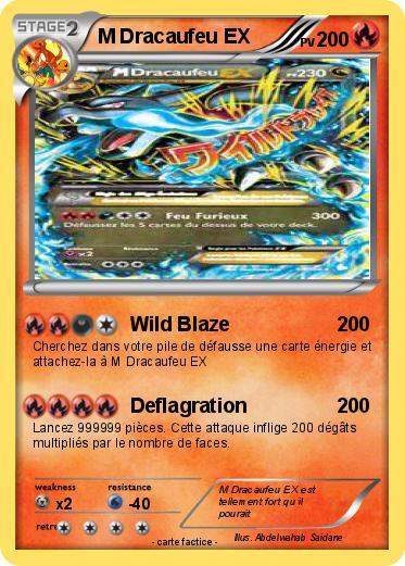 Pok mon m dracaufeu ex 9 9 wild blaze ma carte pok mon - Pokemon dracaufeu ex ...