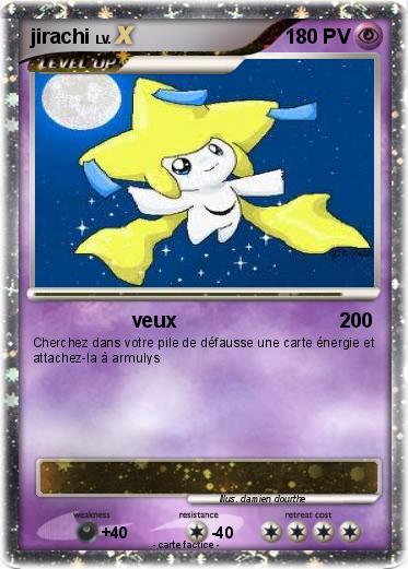 Pok mon jirachi 687 687 veux ma carte pok mon - Carte pokemon jirachi ...